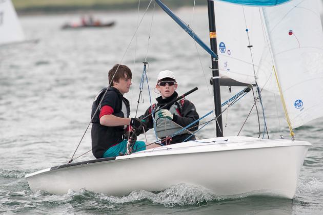 Peter McCann with crew Arran Walsh on their way to winning the Dash for Cash. Pic Robert Bateman