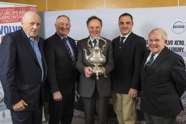 Monday 9th November 2015, Dublin:  At the announcement of the inaugural European IRC Championships to be held as part of Volvo Cork Week 2016 were (l/r): Norbert Riley, Commodore of the Irish Cruiser Racing Association with Adrian Yeates, Managing Director of Volvo Car Ireland, Michael Boyd, Commodore of the Royal Ocean Racing Club, Kieran O'Connell, Chairman of Volvo Cork Week 2016 and David Lovegrove, President of the Irish Sailing Association.  Photograph: David Branigan/Oceansport
