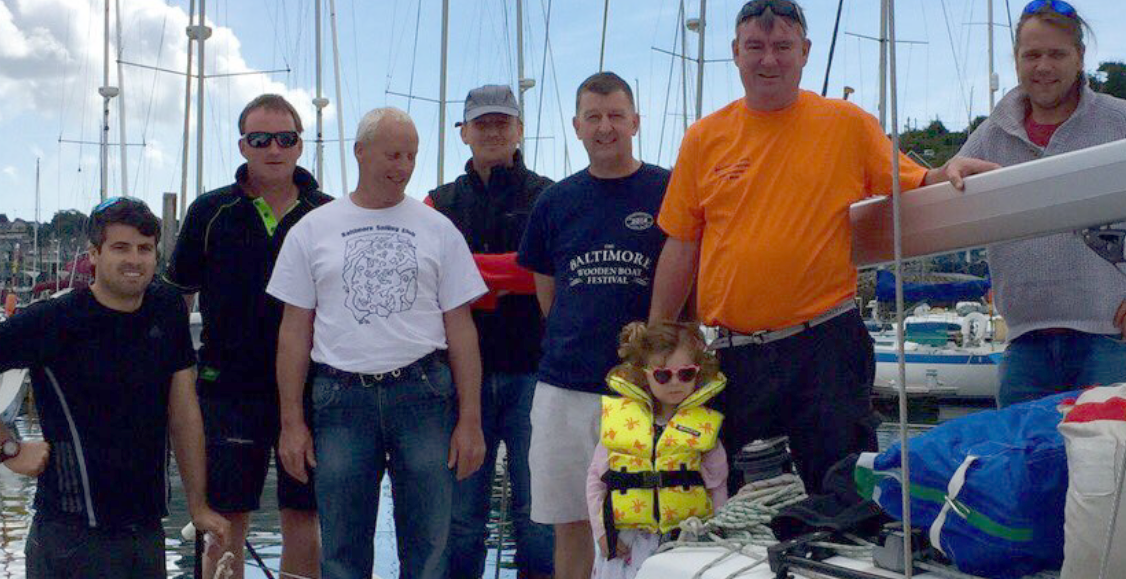 The Baltimore RNLI Beaufort Cup team 2016 (L-R) Nicholas O'Leary, Colman Garvey, Pat Collins, Jim Baker, Aiden Bushe, Caoimhe Cottrell (Cathal's niece), Cathal Cottrell & Youen Jacob (missing from picture is team member Sandy Remington)
