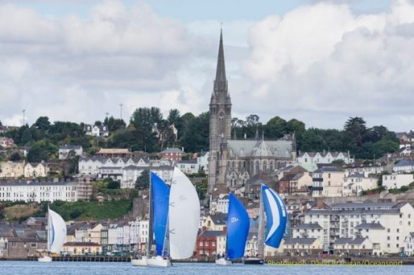 Crosshaven, Co. Cork, 16 July 2018: The leading boats in the Beaufort Cup Fastnet Race for military and rescue service crews on the opening day of racing at Volvo Cork Week 2018 organised by the Royal Cork Yacht Club. Photograph: David Branigan/Oceansport Free for editorial use with picture credit