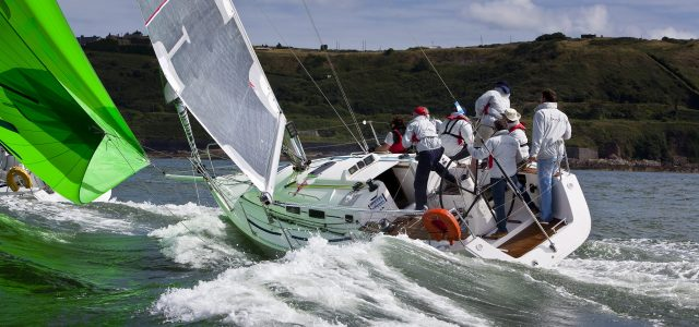 Jelly Baby at the start of the Harbour Course at Cork Week 2010 in Crosshaven.  Photograph: David Branigan/Oceansport